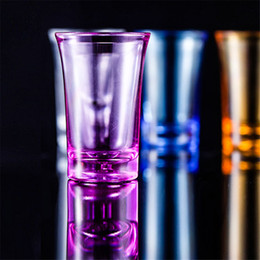 Wholesale games club for sale - Group buy Shot Glass Cup Acrylic Party KTV Wedding Game Cup For Whiskey Wine Vodka Bar Club beer wine glass ml Gift Bottle EE2834