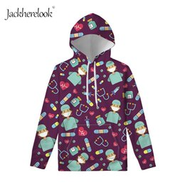 Wholesale nurse hoodie online – oversize Nurse s and printed Jack hlerlick s autumn long sleeve Hoodie woman s nurse cartoon dress
