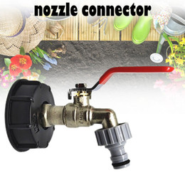 "supply hose Australia - IBC Tote Tank Food Grade Drain Adapter 1 2"" Garden Hose Faucet Water Tank Hose Connector Replacement Garden Supplies"