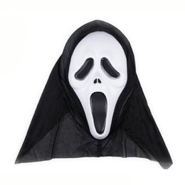 scream mask wholesale UK - Factory Horror Screaming Halloween Grimace Scary Ghost Party Face Mask cosplay Props