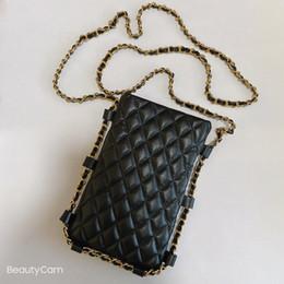 venda por atacado 20120 ~~ New Fashion C Mulheres Rhombus saco de armazenamento cosméticos saco do telefone móvel cadeia de bolsa para senhoras coletar itens luxuosos presente vip