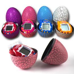 Опт Ручной игровой тумблер светодиодные игрушки Tamagochi динозавр яйцо виртуальный электронный Pet Machine цифровой электронный E-Pet ретро кибер игрушка