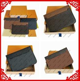 Toptan erkekler ve kadınlar moda klasik kahverengi çiçek damalı siyah ekose rahat kredi kartı kimlik tutucu deri ultra ince cüzdan paket çantası