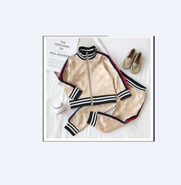 Wholesale kid hoodie for sale - Group buy Children Spring Autumn Garment Baby Boys Girls Zipper Hoodies Set Kids Long Sleeve Twinsets Tracksuit