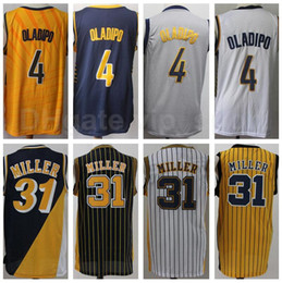 Wholesale white navy uniforms resale online - Edition Earned City Victor Oladipo Jersey Men Basketball Reggie Miller Uniform Stitched Home Away Navy Blue Black White Yellow Grey
