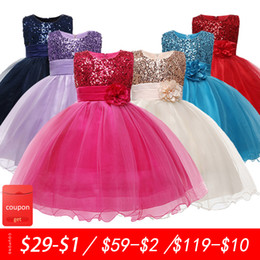 champagne colour wedding dress NZ - 2-10 yrs teenagers Girls Dress Wedding Party Princess Christmas Dresse for girl Party Costume Kids Cotton Party girls Clothing Q1118