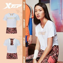 Xtep Speed X women running vest summer breathable sport t shirt fitting yoga clothing 8802280902391