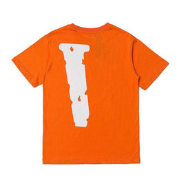 Wholesale Mens Stylist T Shirt Friends Men Women T Shirt High Quality Black White Orange T Shirt Tees Size S-XL