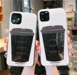 Black Coffee Quicksand Black Glitter Protector Case für iPhone 11 Pro Max, Pro, 11, Xsmax, XR, X, 7,7p