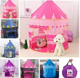 Ingrosso Bambini Toy Tende Bambini Pieghevole Pieghevole Playo Casa portatile Outdoor Toy Toy Tent Tenda Principessa Prince Castello Play House Tenda KKA8295