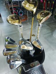 Großhandel Tigeroar H-703 Komplettes Set von Clubs mit Golfbeutel 3 Holz Fahrer Feuerway Putter Ultimative Golden Black Diamond Golf Clubs