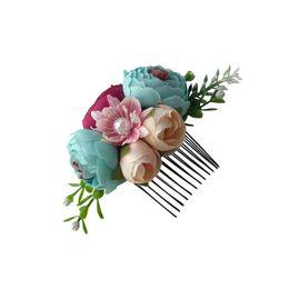Girls Flower Hair Claws Hairs Comb Hairband Kid Artificial Flower Headband Lovely Girl Hair Ornament Headdress Party Hair Accessories 351 G2 on Sale