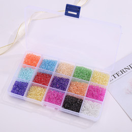 Wholesale Fashion Solid Color Small Rice-Shaped Beads Glass Beads Paint Beads Dyed 15 Colors 24 Colors Combination Suit DIY Ornament Accessories