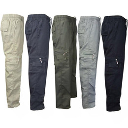 Wholesale mens work pants for sale - Group buy Brand New Camping Hiking Army Cargo Combat Mens Straight Trousers Pants Casual Outdoor Work Pockets Warehouse Trouser