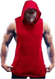 Coofandy Men's Exercise Colete Muscle Cut T-shirt sem mangas Aptidão Hoodie