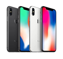 Wholesale cell phone unlocks resale online - Original iPhone X with face id GB GB Hexa Core iOS inch MP G Lte Refurbished Unlocked Cell Phones