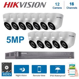 16 security system Canada - Hikvision English 16 Channels DVR Video Surveillance With 12 Pcs 5MP 4 in 1Camera Indoor Night Vision CCTV Security System Kits1