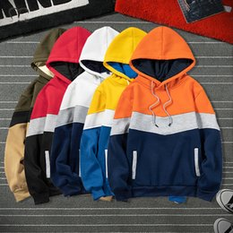 big size hoodies sweatshirts NZ - Fashion Brand Men Hoodies 2020 Winter Autumn Warm Fleece Male Casual Hoodie Sweatshirts Men's Patchwork Streetwear Tops Big Size C1117