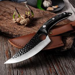 Cuchillo de hueso de acero inoxidable hecho a mano Cuchillo de pesca Cuchillo de carne Cleaza de carne Cortador de cocción al aire libre Herramienta de carnicero cuchillos en venta