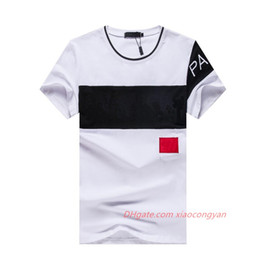Wholesale designed tee shirts for sale - Group buy 2021 Brand Design Summer Street Wear Europe Fashion Men High Quality Cotton Tshirt Casual Short Sleeve Tee T shirt