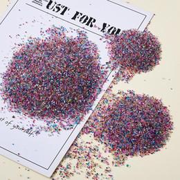 Wholesale 0.61.5mm Rainbow Mixed Translucence DIY 3D Nail Art Decoration Mini Glass Beads Tiny Caviar Nail Beads Mixed Color