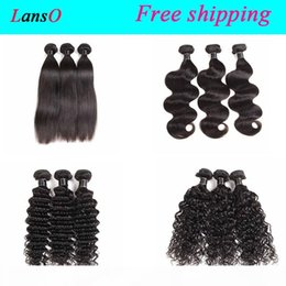 best loose deep wave hair NZ - Best Quality Peruvian Malaysian Indian Cambodian Body Wave Straight 3 4 Bundles Lot Brazilian Deep Water Wave Loose Deep Human Hair Wefts