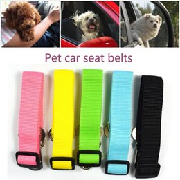 Discount belt dog collars New Adjustable Dog Pet Car Safety Seat Belt Restraint Lead Travel Leash Pet Car Safety Seat Belt Dog High Quality #R5