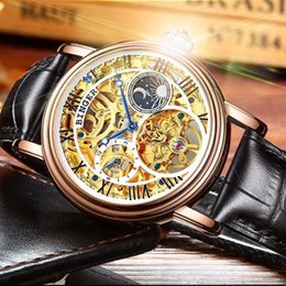 water calendar 2021 - Switzerland BINGER Watches Men Tourbillon Relogio Masculino water resistant Skeleton Mechanical Watch Men Clock1