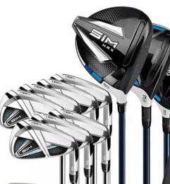 Full Set Sim Max Golf Clubs Treiber # 3 # 5 Fairway Woods + Golf Irons + Kostenloser Golf Putter Real Pics Kontakt Verkäufer im Angebot