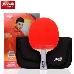 Wholesale DHS 6002 Table Tennis racket with ITTP Approved pimples in table tennis rubber FL handle DHS ping pong paddle 201116
