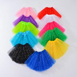 Wholesale Girls Tutu Skirts Kids Clothes Stars Glitter Ballets Fancy Pettiskirt Sequin Stage Dancewear Costume Summer Tulle Princess Mini Dress 253 K2
