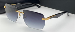 high end designer sunglasses NZ - New ARTIST Fashion Design Sunglasses THE Polygon II Rimless Uv400 Protection Generous Style High-end Outdoor Glasses Frame Lens Nunlf