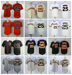 maillots achat en gros de-news_sitemap_homeHommes retire la balle de baseball Barry Bonds Jerseys Vintage Flexbase Cool Base Pull Flowover Team Couleur Noir Gris Blanc Orange Beige Broderie
