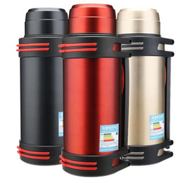 3l bottle water Australia - Stainless Steel Thermos Outdoor Travel Car Water Termos Cup Bottle Portable Insulation Vacuum Flask Kettles 1.2L 1.6L 2L 2.5L 3L 201105