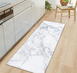 Wholesale marble for floors resale online - Black White Marble Printed Entrance Doormat Long Floor Mats Carpets For Living Room Kitchen Bathroom Rugs Tapet jllQdF xmh_home