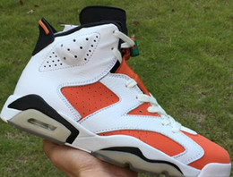 Wholesale tops news resale online - News Fashion Gatorade White Orange Black Man Designer Basketball Shoes Special Edition VI Like All Stars Custom Sports Top Quality