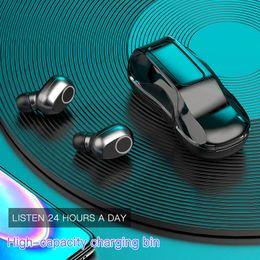 Bluetooth 5.0 Earphones True Wireless B-02 TWS In-Ear Earbuds Waterproof Mini Car fashion 3D Stereo Sound Sport earphon Earpiece Touch heads