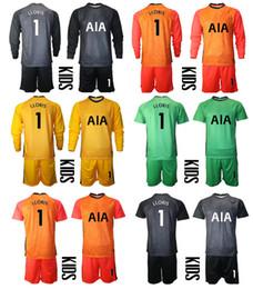 2021 Temporada Spurs portero de manga corta larga camisa de futbol personalizado kit de niños conjuntos de uniforme 1 Lloris Football Boys Formación de fútbol Jersey en venta