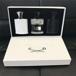Moda homens fragrâncias definir 3 pçs / set intenso perfume fragrante prata montanha / aventus / verde irlandês 30ml * 3 frete grátis em Promoção