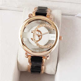Fashion Brand Watches Women Men Girls Hollow out crystal style steel metal band quartz wrist watch CH07 on Sale