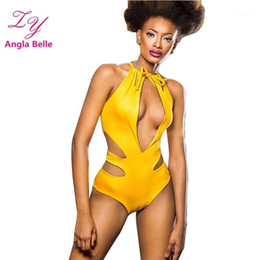 Wholesale swimwear cut outs for sale - Group buy Swimsuit One Piece Swimwear Women Monokini Padded Bathing Suit Cut Out maillot de bain femme une piece Summer Swimming Suit