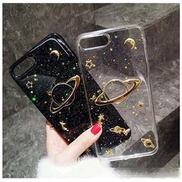 Luxury Glitter Cute Space Planet Phone Case For iPhone X XR XS MAX 6 6S 7Plus Clear Soft Silicone Back Cover For iPhone 7 8 Plus