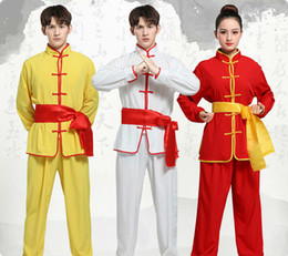 traditional chinese clothes kung fu Canada - 2020 Boy Girl Chinese Traditional Wushu Kung Fu Clothing Set Sequin Dragon Embroidery Stage Performance Martial Arts Uniform