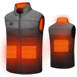 Heated Vest Usb Heated Jacket Heating Vest Thermal Clothing Hunting Winter Temperature Control Heating Jacket Black