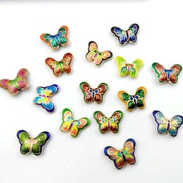 Wholesale 10pcs Cloisonne Enamel Butterfly Beads Jewelry Accessories for Necklace DIY Bracelet Making Supplies Wholesale Jewellery Findings