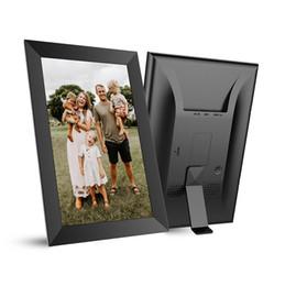 Cadre photo cadre numérique 10,1 pouces IPS écran tactile complet écran wifi app partage Photos Machine de publicité système Android en Solde