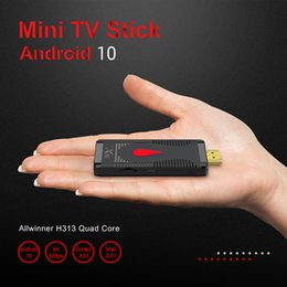 android 1 venda por atacado-X96 S400 TV Stick Allwinner H313 Quad Núcleo Suporte Smart TV G WiFi Android OS GB