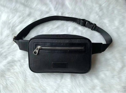 Mens women bags Unisex Men Women leather Sport Fanny Pack Belly Waist Bum Bag Fitness Running Belt Jogging Pouch Back grid GU22014# on Sale