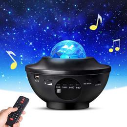 Bluetooth poderoso projetor Galaxy com alto-falante Laser Starry Starry Star Night Projetor de luz com controle remoto em Promoção