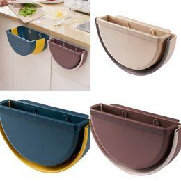venda por atacado Parede montada sem cobertura de lixo cesta cozinha sala de estar dobra caixa de armazenamento de caixa de lixo Multicolor 8 5xr j2